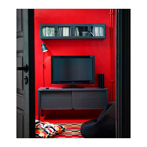 Artesanato Com Cd E Croche ~ RåSKOG Armario de pared, gris oscuro, vidrio Armario de pared, Armario de y Ikea