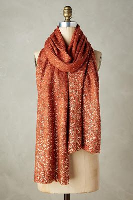 Anthropologie glitter Shimmered Boucle Scarf