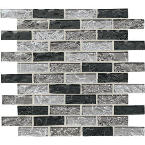 Mohawk Grand Terrace Silver Medley Brick Joint 12 X Gl Mosaic Tile