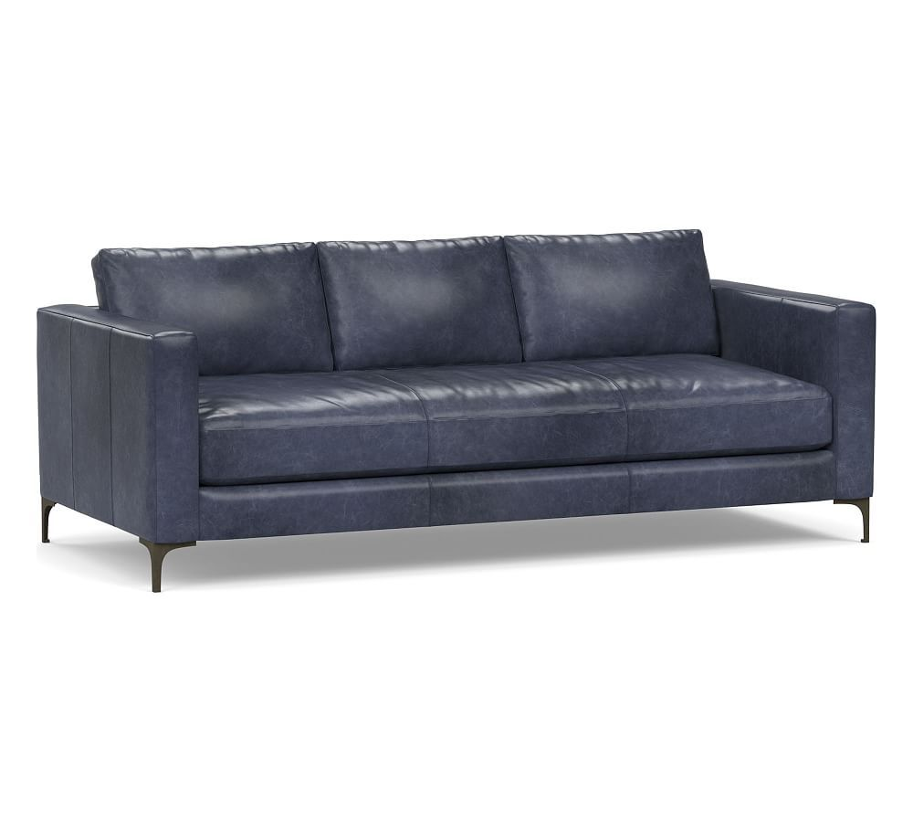 Jake Leather Sofa Blue Leather Sofa Leather Sofa Blue Leather Couch