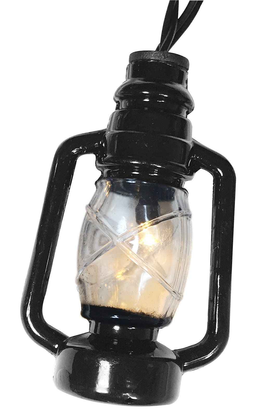 Lantern String Lights Small Black Led Light Strand Battery Operated 10 Mini Lanterns Per Cord Party You Can Get More