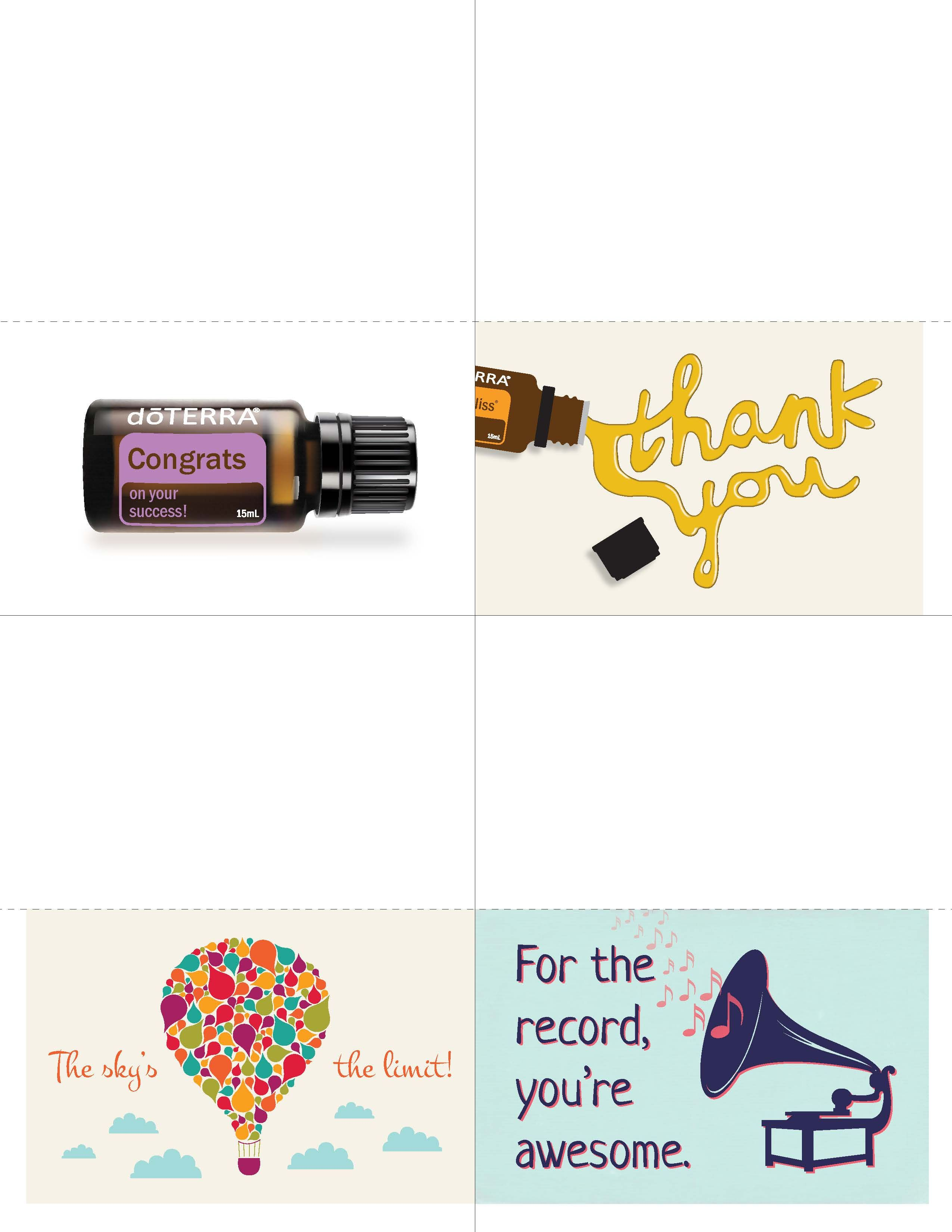 Downline Appreciation Day Thank You Cards Doterra Business Cards Template Young Living Business Cards Templates Doterra Business Cards