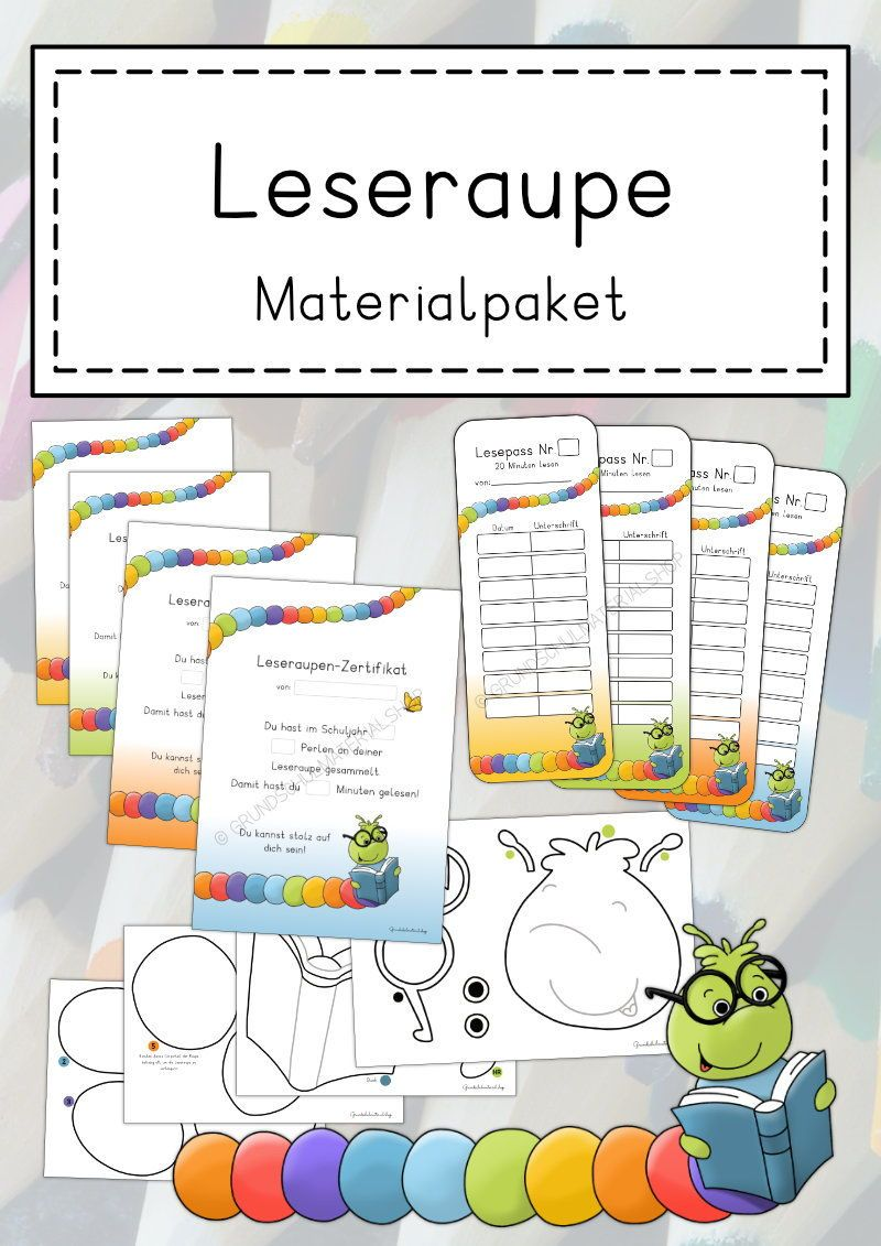 Leseraupen in der Grundschule Lesemotivation spielerisch fördern ...