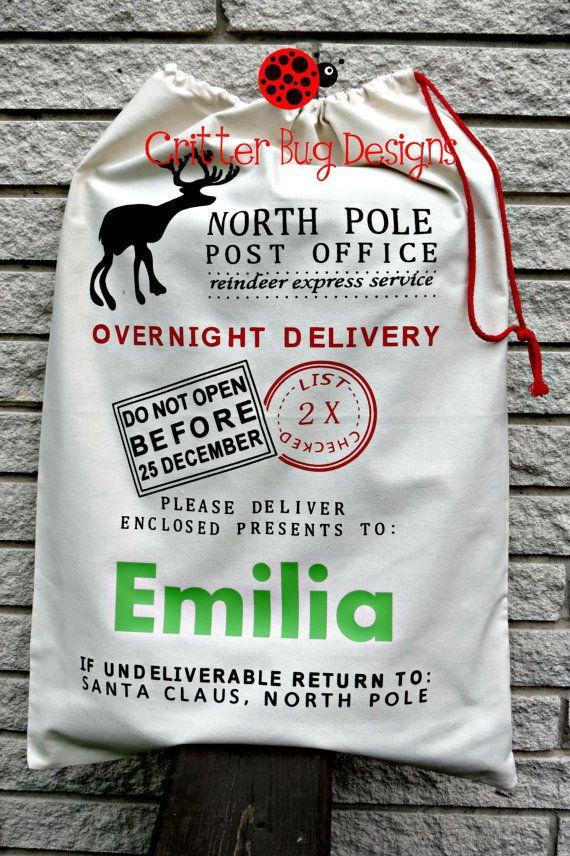 Twisted Envy Personlised A Big Pile Of Presents Personalised Santa Sack Gift Bag