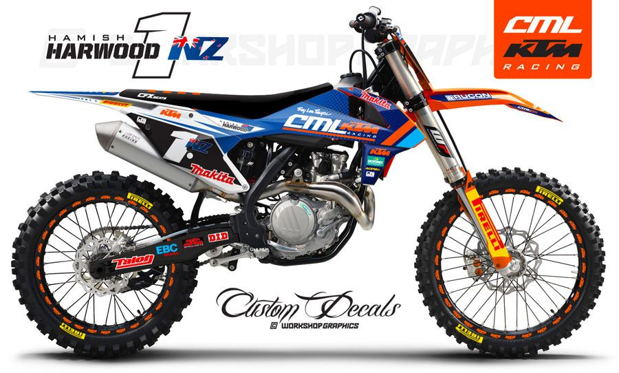 Ktm Custom Graphics Kits Ktm Ktm Enduro Ktm Motocross