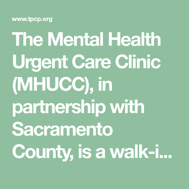 The Mental Health Urgent Care Clinic Mhucc In Partnership With