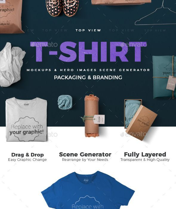 T-shirt Mockups and Packages - Hero Images Scene Generator - #Hero - resume generator
