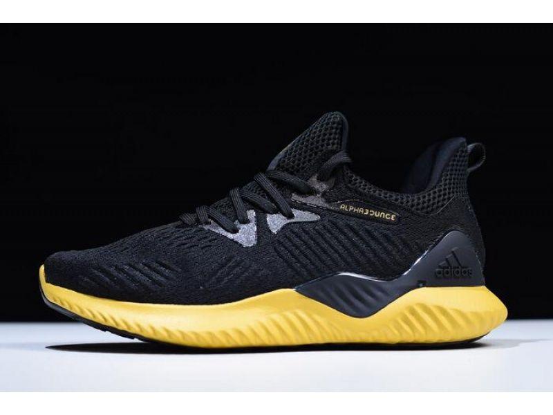 Adidas Alphabounce Em M Black Yellow Cg5555