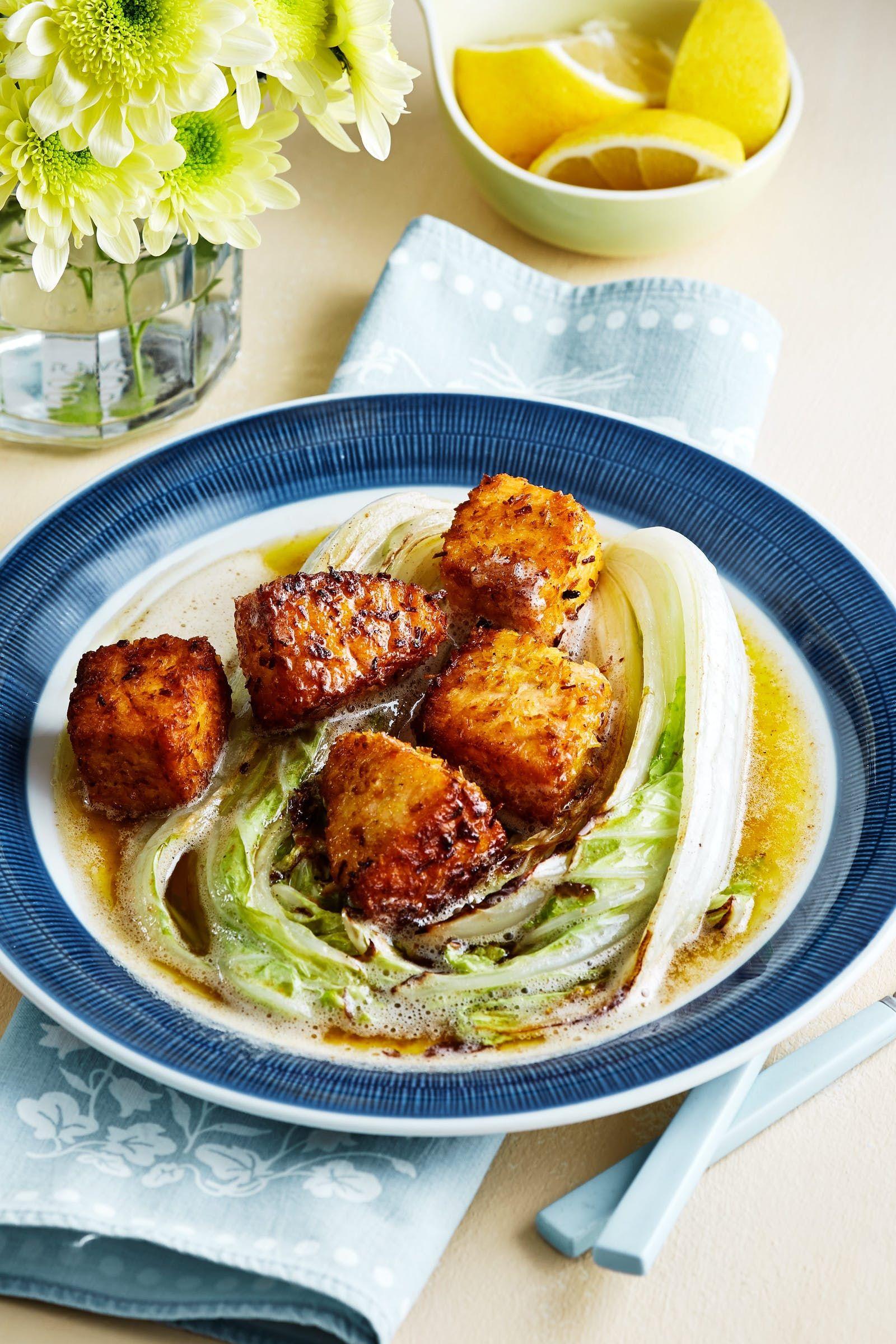Keto coconut salmon with napa cabbage napa cabbage