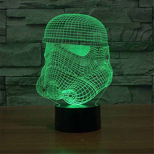 Huiyuan Lamp 3d Led For Desk Table Star War Clone Troopers Night Light 7 Color Change Lighting Lamps Gift Househ 3d Led Night Light Color Changing Led 3d Light