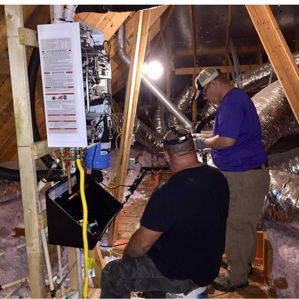 Installing A Tankless Waterheater In The Attic For Endless Hot Showers Click Pic To See If A Navien Tankless Is R Water Heater Tankless Water Heater Shower