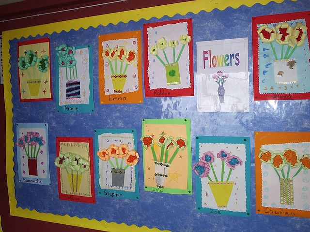 Classroom Ideas For Mothers Day : Flowers bulletin board school and teaching ideas