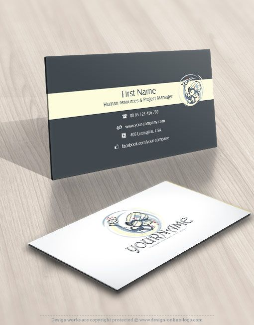 Exclusive design peacock logo compatible free business card 00909 logo business card design reheart Gallery