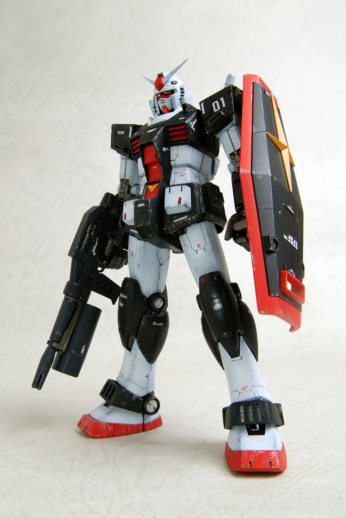 [remodeling] MG RX-78-1 Gundam: Work by 成真 Photoreview + WIP.