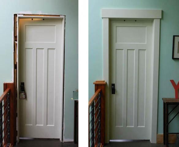 Easy door frame! & Craftsman style.. Easy door frame! | New Home | Pinterest ...