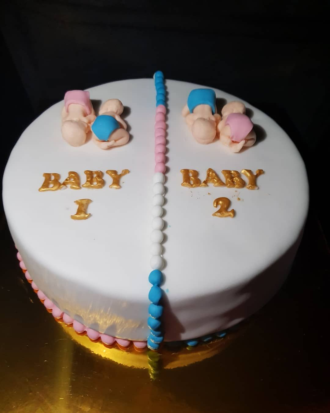 Twins Gender Reveal Cake Ideas And Inspiration Gender Reveal Cake Baby Reveal Cakes Baby Gender Reveal Party