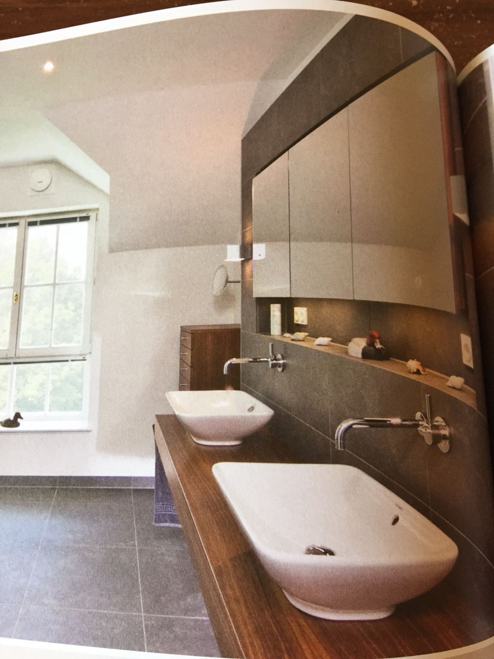 Schöne Ablage im Bad inkl. Spiegelschrank Unser Haus - Masterbad Badezimmer, Bad und