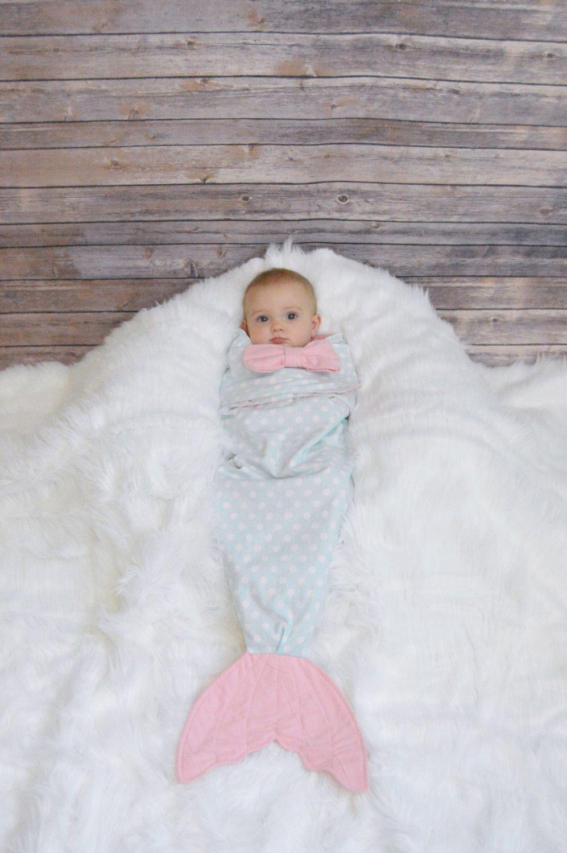 Mermaid baby swaddler, baby wrap, mermaid tail blanket, swaddle, newborn, baby shower gift, baby girl, baby blanket christmas gift by CreateATail on Etsy https://www.etsy.com/listing/466943770/mermaid-baby-swaddler-baby-wrap-mermaid