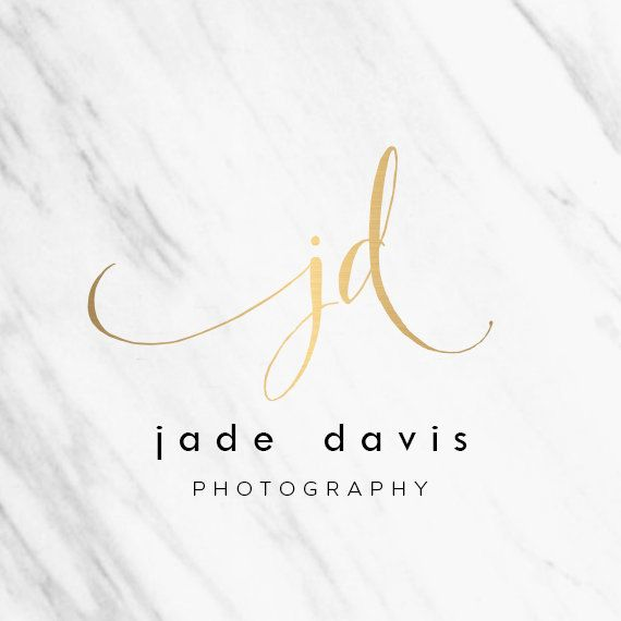 Premade Logo Design  Gold Logo  Initials Logo  by VisualPixie