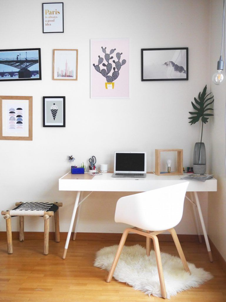 Blog d co design diy a propos de tapis mouton mur de for Deco bureau scandinave