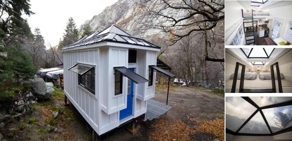 A Tiny House Rental With A Breezy Beach Inspired Design Tiny House Rentals Tiny House Building A Tiny House