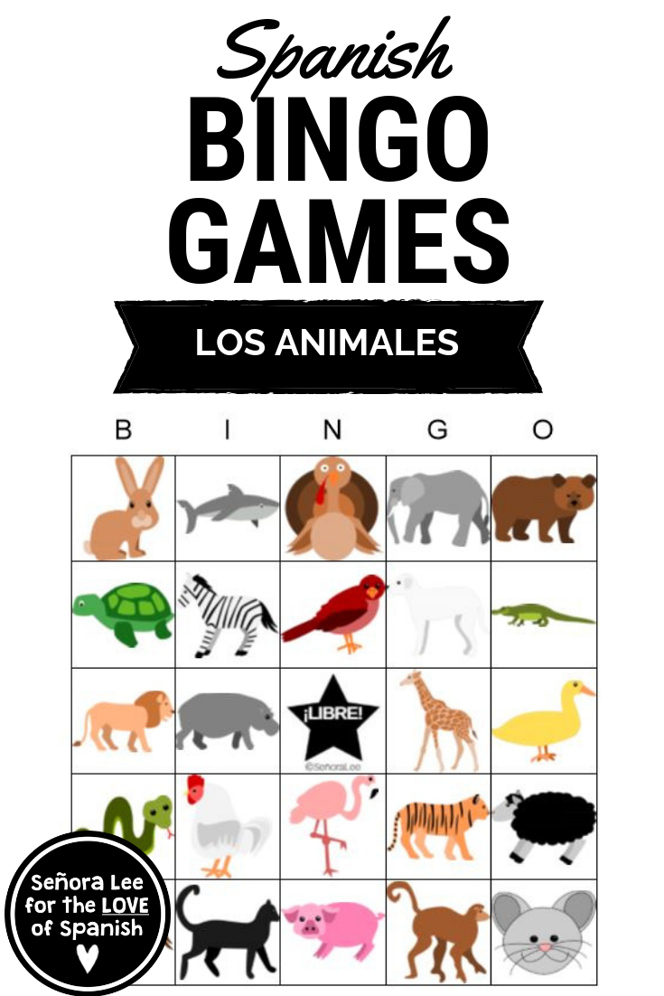 Spanish Animals Bingo Build English Or Spanish Vocabulary Quickly Learn 27 Animal Vocabulary Wo Learning Spanish Spanish Learning Activities Spanish Animals