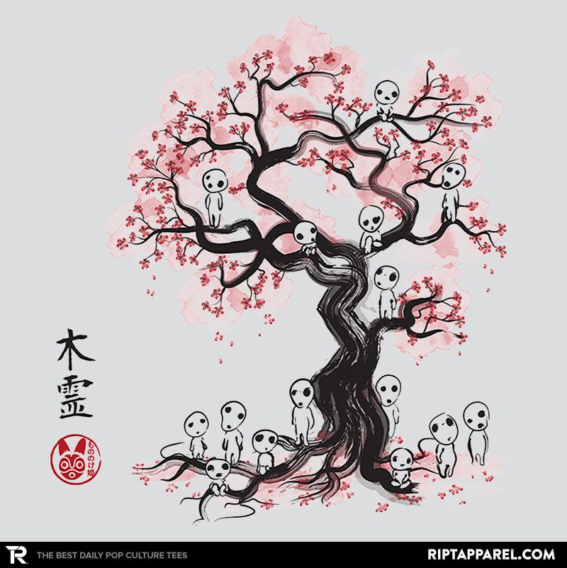 ''Forest Spirits Sumi-e'' by Dr.Monekers available today only, 9/18/15, at RIPT Apparel