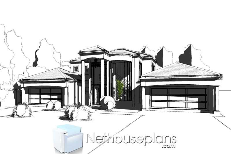 5 Bedroom Double Storey House Plan In South Africa Nethouseplansnethouseplans In 2020 Double Storey House Double Storey House Plans House Plan Gallery