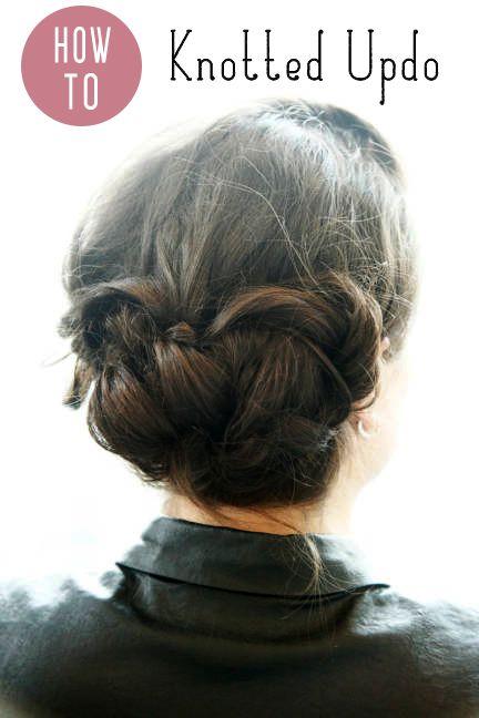 3 Easy Updos For All Hair Lengths Short Hair Updo Updo