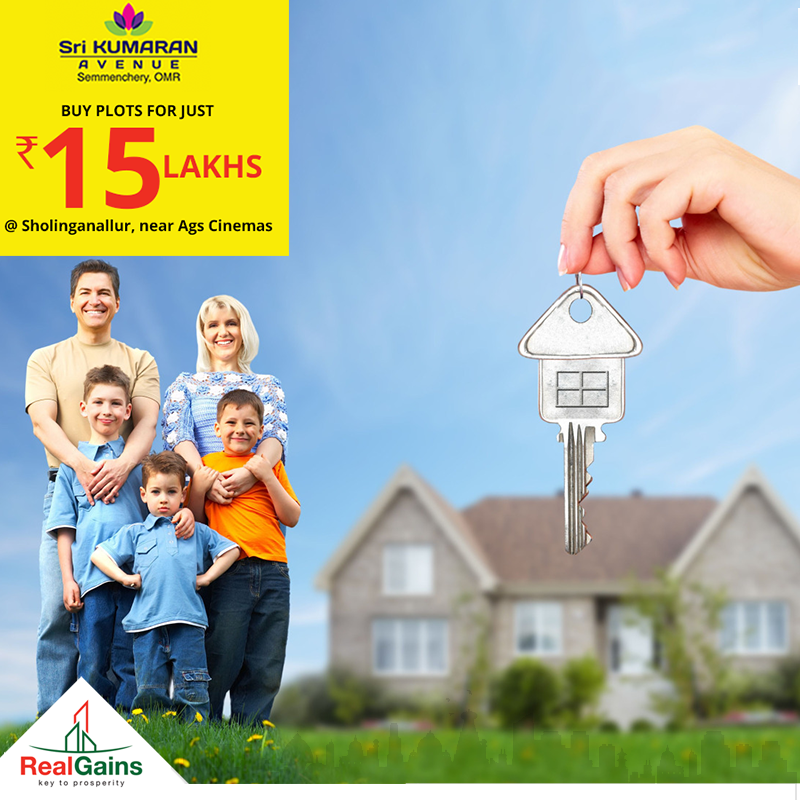 Buy Plots at just Rs.15 lakhs in the most happening place in Chennai, Sholinganallur, OMR Road, Chennai.  With all facilities from well-secured compound walls, 24 X 7 security, well-laid tar roads, excellent ground supply water, etc.  Sri Kumaran Avenue | OMR | Hurry up!!! Surprise gifts are waiting.  Call Today : 9364171819 | 9361171819 Real Gains Property Developers  #RealGainsPropertyDevelopers #RealGains #Plots #Chennai #Chennailand #SriKumaranAvenue