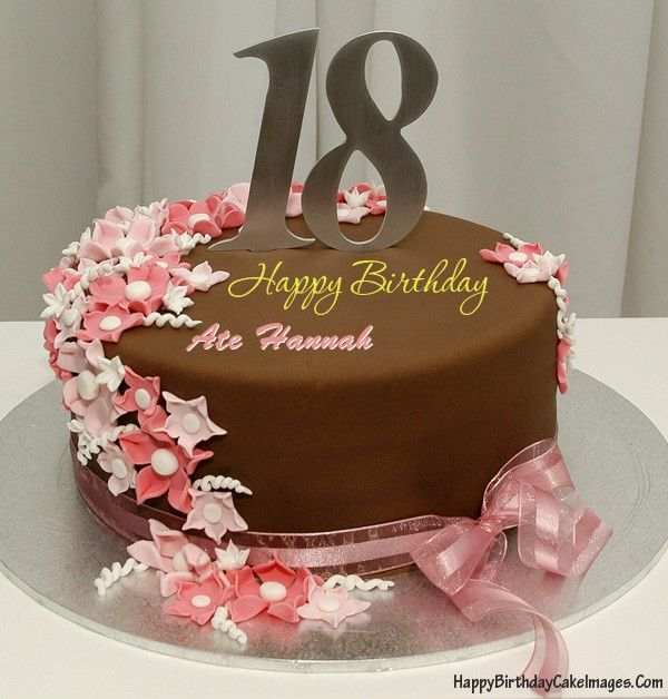 A Chocolate And Pink 18th Birthday Cake With Your Friends Or Lovers