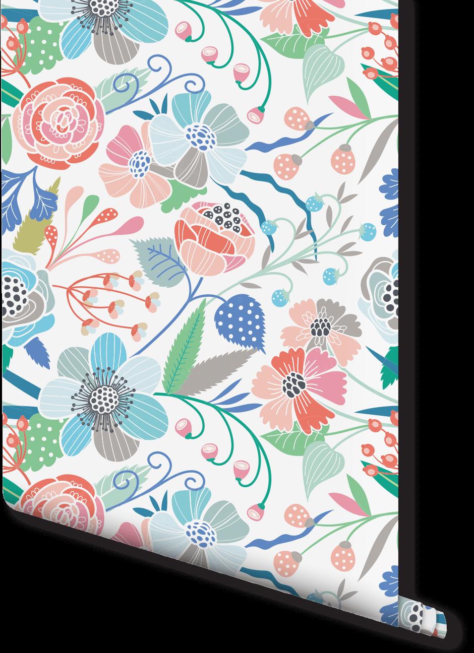 Modern Flower Print Wallpaper Wallpaper Stencil Fantastic