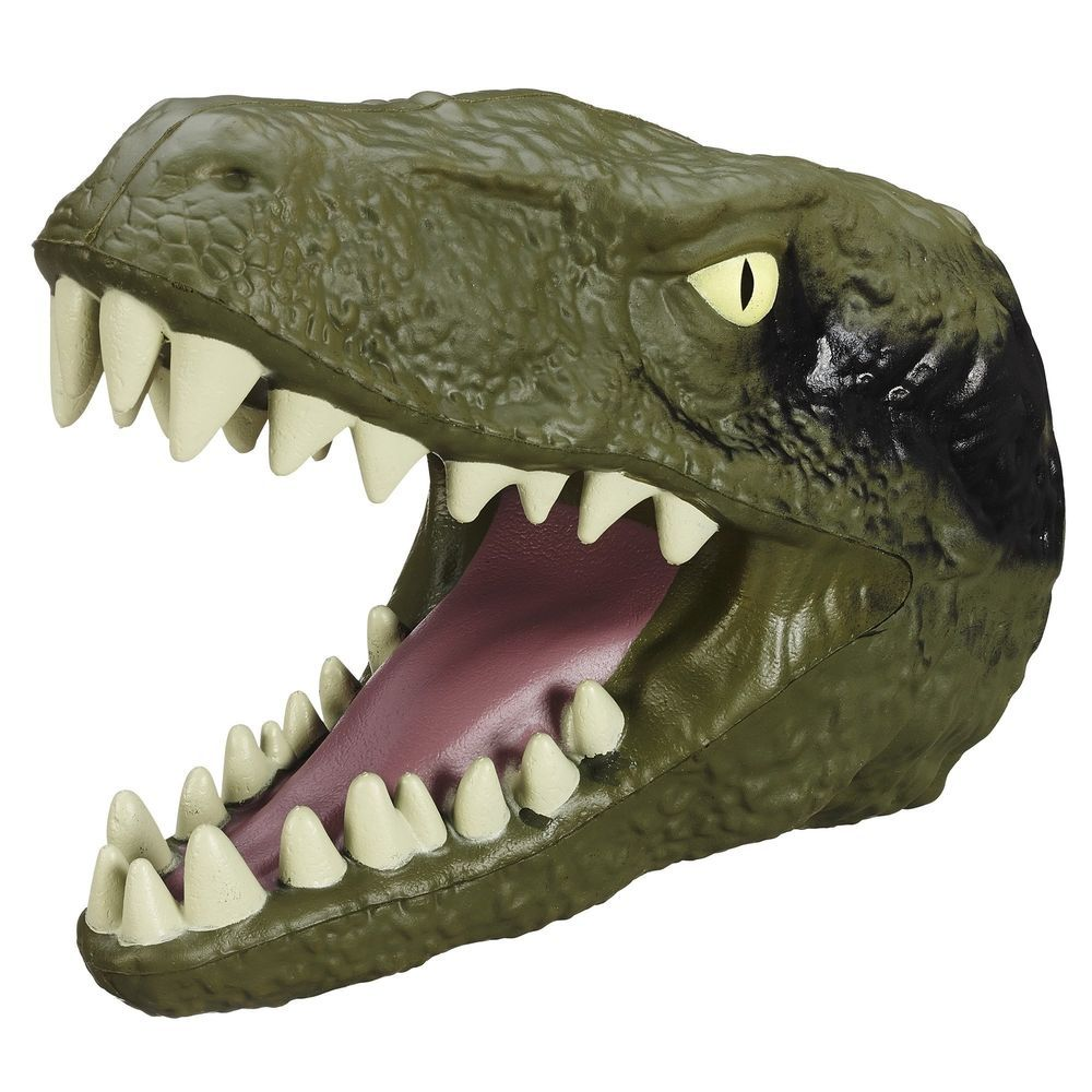 Jurassic World Chomping Dino Head Velociraptor Hand Puppet