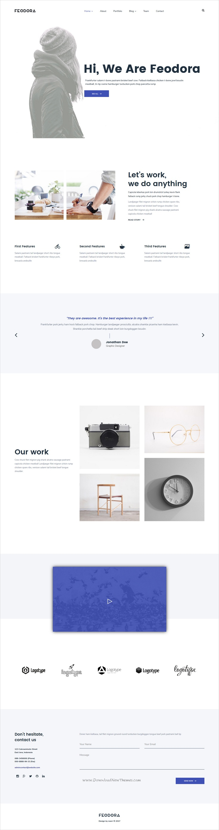 Feodora Creative HTML5 Template