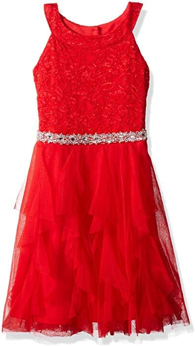 235b9373e76fa Amazon.com  My Michelle Girls  Big Special Occasion Lace and Tulle Dress