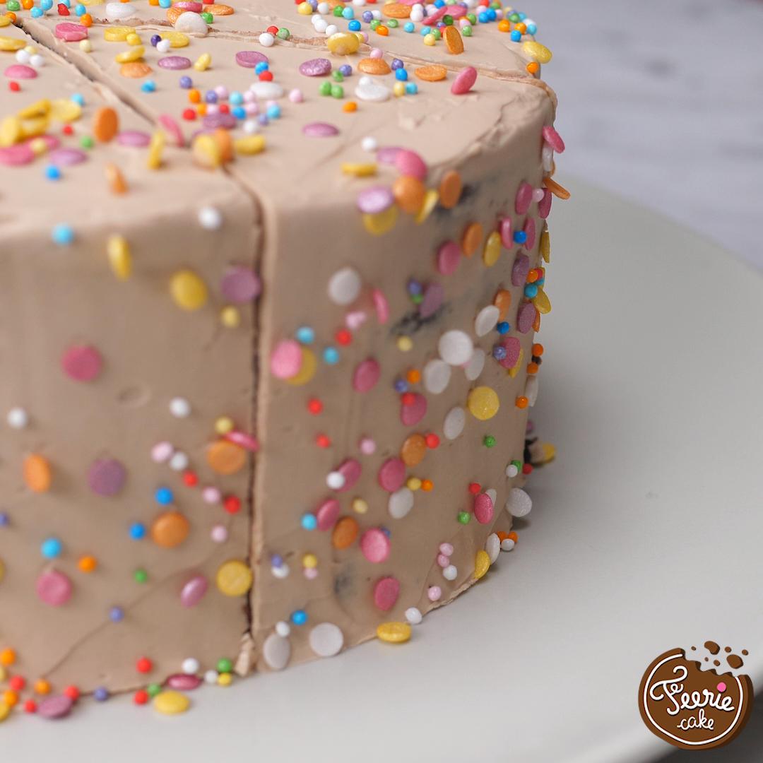 Layer cake 3 chocolats