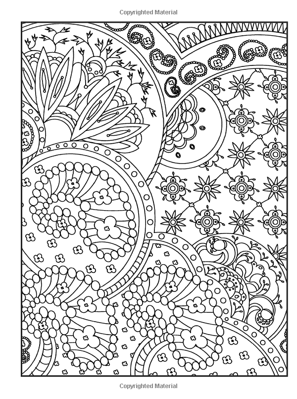 Creative haven crazy paisley coloring book dover design coloring books kelly a