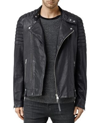 ALLSAINTS Jasper Leather Slim Fit Biker Jacket. #allsaints #cloth #jacket