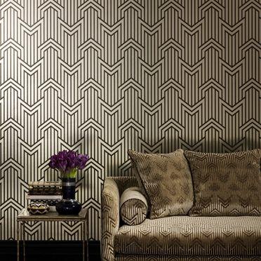 Mokum Metropolis Limelight Foil Wallpaper
