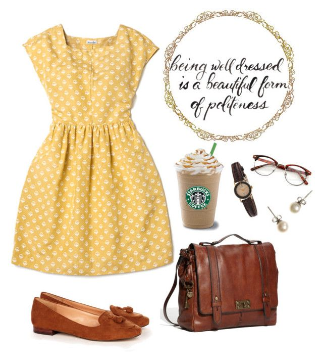 """""""Simple Outfit"""" by deepforestdust ❤ liked on Polyvore featuring Steven Alan, FOSSIL, Sole Society, American Apparel and J.Crew"""