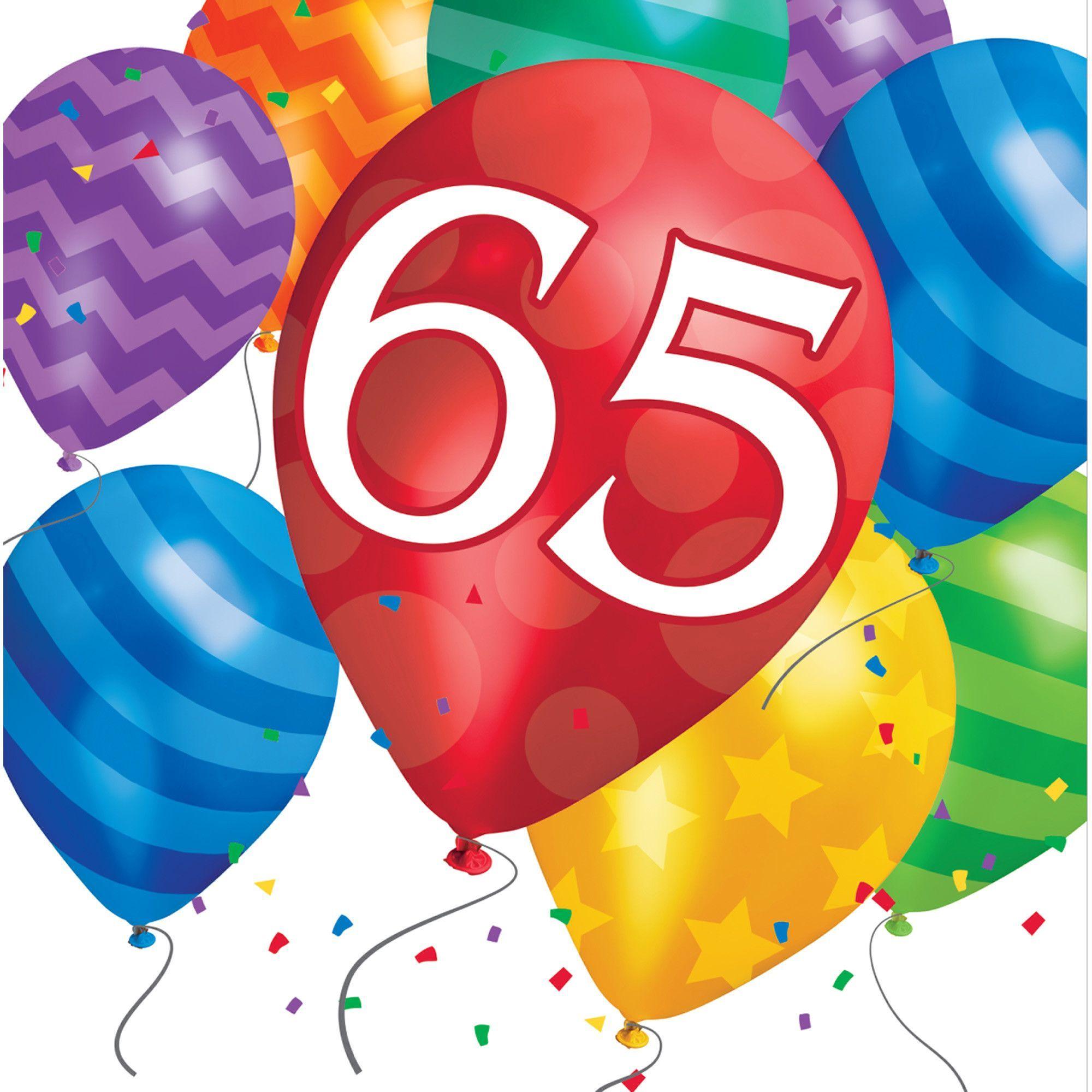 Balloon Blast 65th Birthday Lunch Napkins Case Of 192