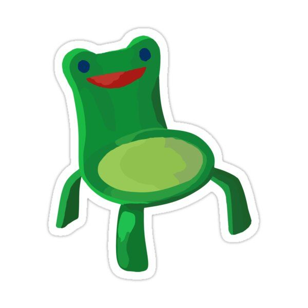 Froggy Chair Sticker By Cappertillar In 2021 Froggy Homemade Stickers Stickers