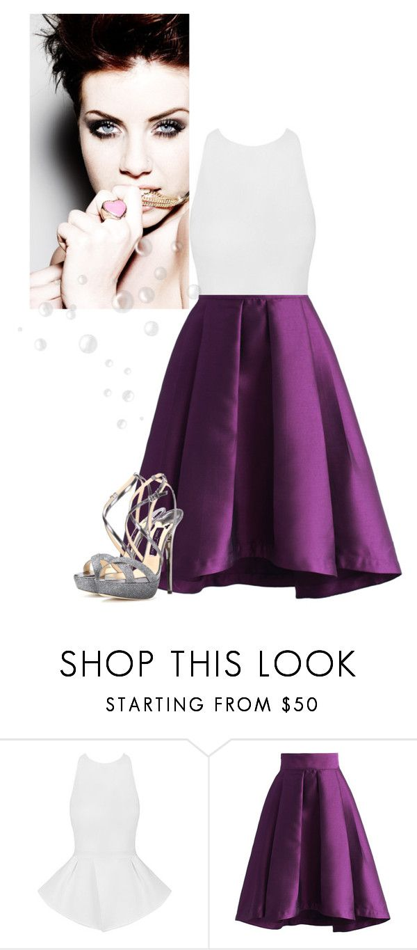 """""""Untitled #623"""" by looks-lie ❤ liked on Polyvore featuring Chicwish and Jimmy Choo"""