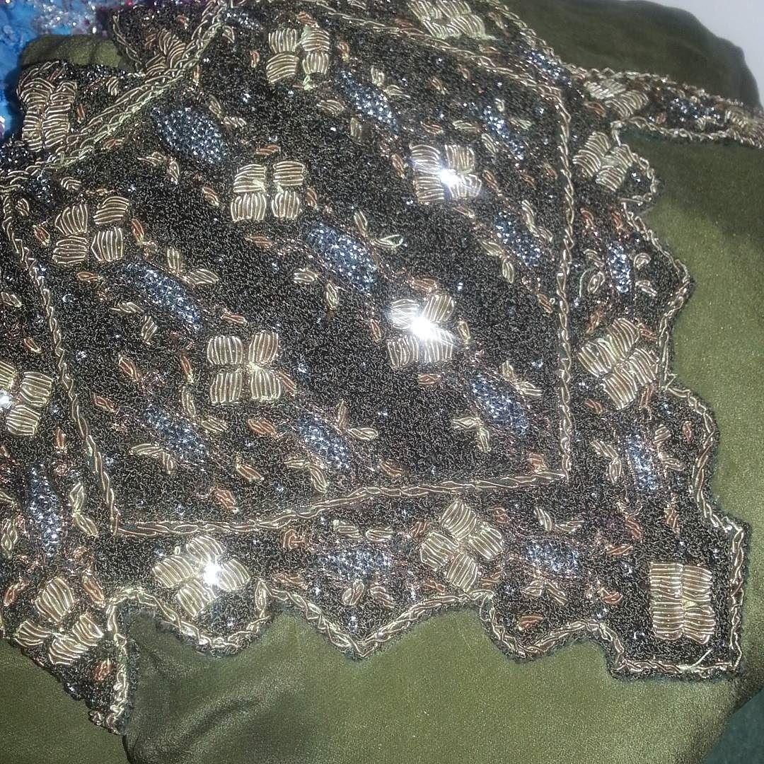 Anarkali neck work #green #indian #indianbride #intricatedetail #longdress #asian #indiansuits #pakistani #us #uk #indianbrides #asianweddings #pakistanibrides #anarkali #ethnicwear #patialasalwar #brocade #sari #americanindian by desiwearhouse