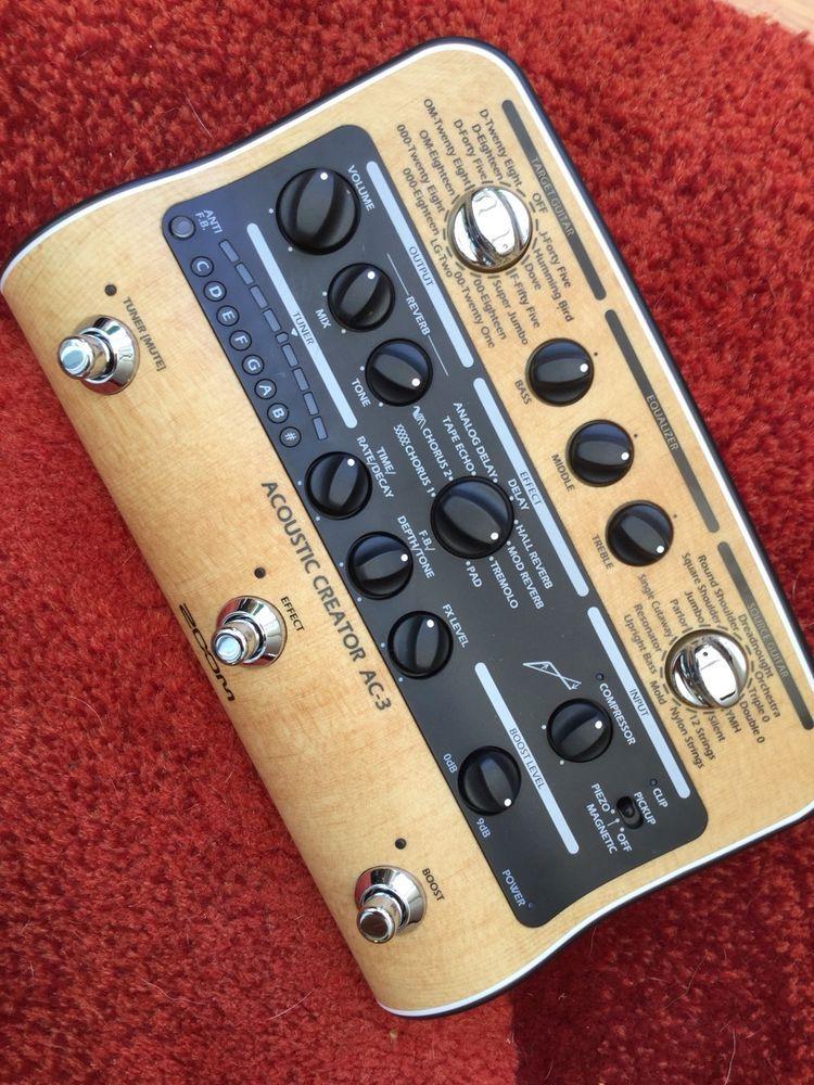 Zoom Ac 3 Acoustic Creator Acoustic Guitar Effects Pedal Guitar Guitar Effects Guitar Effects Pedals