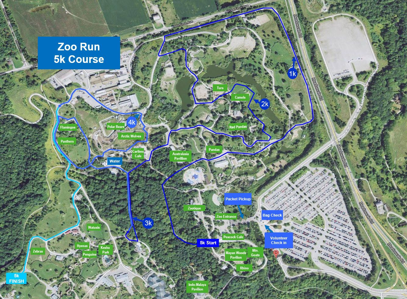Event Map Toronto Zoo Oasis 5k Run 2017 Canada Running Series