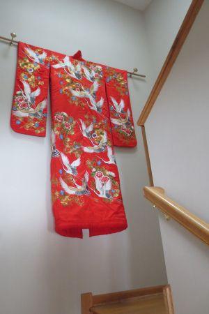 Japanese Wedding Kimono A Daily Dose Of Fiber Display Kimono Japanese Decor Wedding Kimono