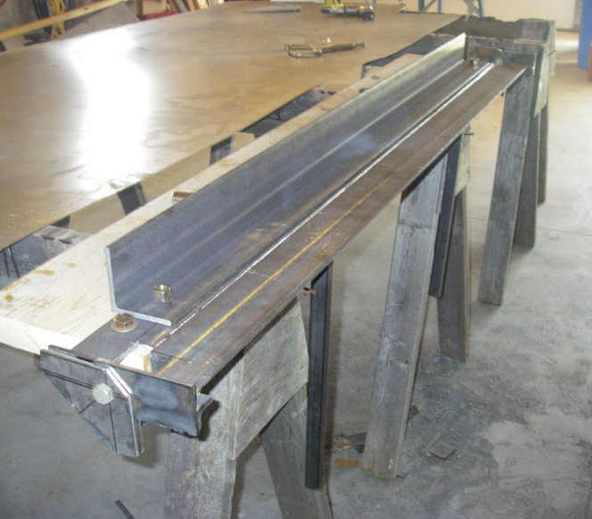 Sheet Metal Brake By Huffhinesce Homemade Sheet Metal Brake Fabricated From Three 6 Sections Of 1 4 Thick Sheet Metal Brake Sheet Metal Sheet Metal Bender