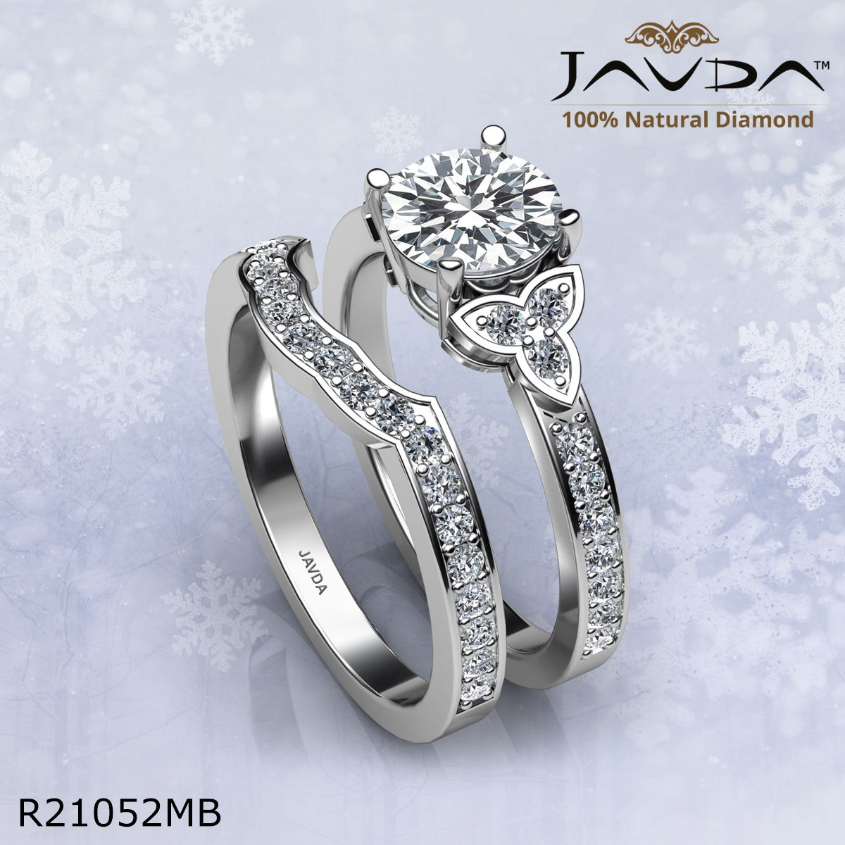 This Elegant Bridal Set Collection Made In 14k Gold And Platinum 950 Javdacollection Sh Diamond Engagement Ring Set Wedding Ring Sets Diamond Bridal Sets