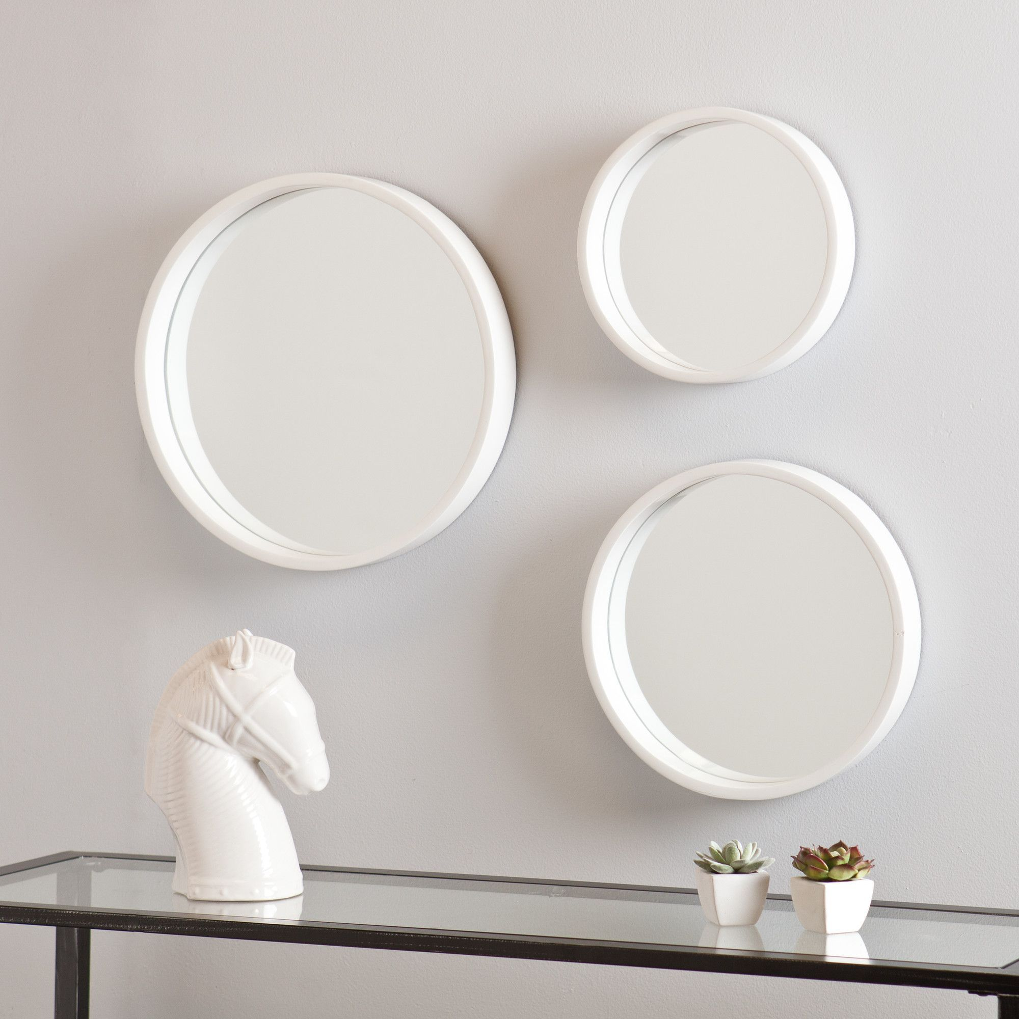 Daws 3 Piece Wall Mirror Set Products Mirror Round Wall Mirror
